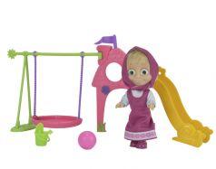 """Simba, Кукла """"Маша и Медведь"""" - Маша с детской игровой площадкой"""