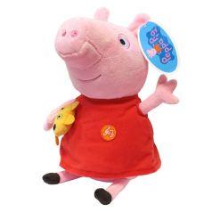 """Peppa Pig Мягкая игрушка """"Пеппа с игрушкой"""" озвученная, 30 см"""