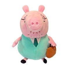 """Peppa Pig, Мягкая игрушка """"Папа Свин с кейсом"""", 30 см"""