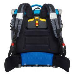 "McNeill Ранец ERGO Light Compact Flex для мальчика ""Велогонщик"" (синий/серый)"