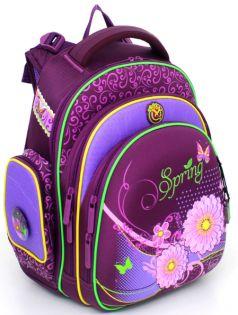 Hummingbird Ранец школьный 21ТК для девочки с мешком для обуви (фиолетовый)