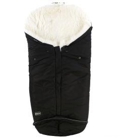 BOZZ Конверт зимний из овчины с длинным ворсом (черный/белый)