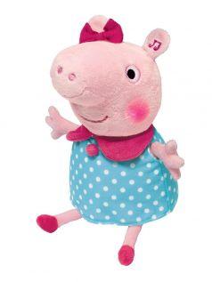 Peppa Pig, Мягкая игрушка Пеппа, 30 см (движение, свет, звук)