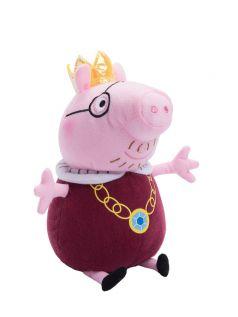 Peppa Pig, Мягкая игрушка Папа Свин король, 30 см