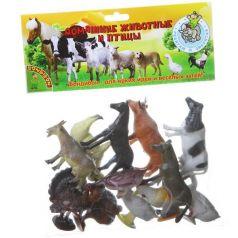 Bondibon, Набор животных Ребятам о Зверятах Домашние животные и птицы 12 штук