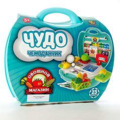 ABtoys, Набор Чудо-чемоданчик Овощной магазин, 23 предмета