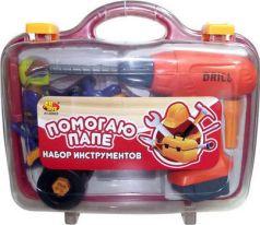ABtoys Набор Помогаю Папе 4 предмета в чемодане