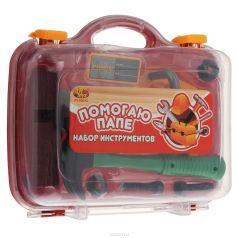 ABtoys Детский набор инструментов Помогаю Папе 8 предметов в чемодане