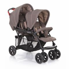 Baby Care Коляска для двойни Tandem (Brown/Grey)