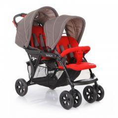 Baby Care Коляска для двойни Tandem (Grey/Red)