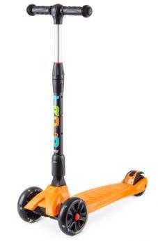 Trolo Самокат Rapid со складной ручкой и светящимися колесами оранжевый