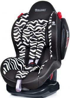 Welldon Автокресло Smart Sport Side Armor & CuddleMe Zebra
