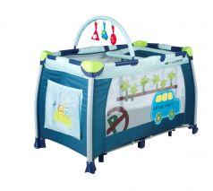 Babies Манеж-кровать P-1B с дугой (синий)