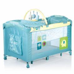 Babies Манеж-кровать с дугой (голубой)