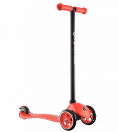 Y-Scoo Самокат 3-х колесный Globber My free Fixed с блокировкой колес красный