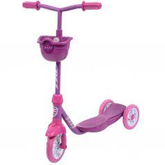 FOXX Самокат 3-х колесный городской Baby с корзинкой (фиолетовый)