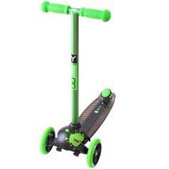 Y-Scoo Самокат 3-х колесный RT TRIO DIAMOND 120 Monsters 1 green Zoko (зеленый)