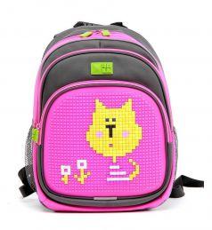 4ALL Рюкзак Kids (серо-розовый)