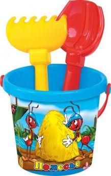 Полесье Игрушки для песочницы Набор 219 (голубой, желтый, розовый)
