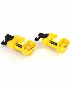 Moby Kids Ролики двухколесные светящиеся (желтые)
