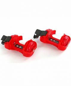 Moby Kids Ролики двухколесные светящиеся (красные)