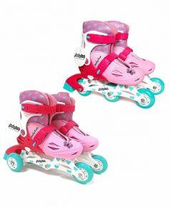 Moby Kids Роликовые коньки 2 в 1 (розовые)