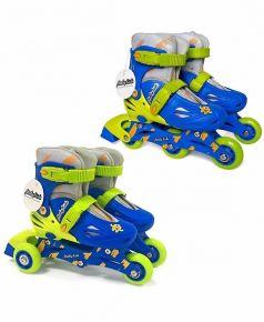 Moby Kids Роликовые коньки 2 в 1 (синие)