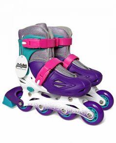 Moby Kids Роликовые коньки (серый/фиолетовый)