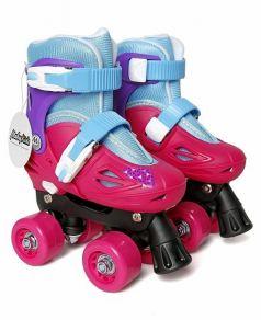 Moby Kids Роликовые коньки-квады (розовый/голубой)
