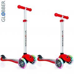 Globber Самокат 3-х колесный Primo Fantasy с 3 светящимися колесами красный