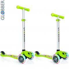 Y-Scoo Самокат 3-х колесный Globber Primo Fantasy с 3 светящимися колесами FRUITINESS Lime green
