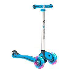 Y-Scoo Самокат GLOBBER PRIMO PLUS с 3 светящимися колесами Cyan Blue