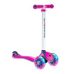 Y-Scoo Самокат GLOBBER PRIMO PLUS с 3 светящимися колесами Pink