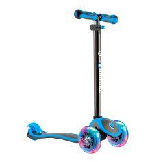 Y-Scoo Самокат GLOBBER PRIMO PLUS TITANIUM с 3 светящимися колесами Neon Blue