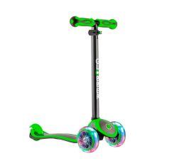 Y-Scoo Самокат GLOBBER PRIMO PLUS TITANIUM с 3 светящимися колесами Neon Green