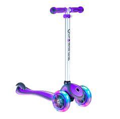Y-Scoo Самокат GLOBBER PRIMO PLUS с 3 светящимися колесами Purple