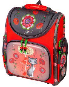 Hummingbird Ранец 102К для девочки с мешком для обуви (красный)