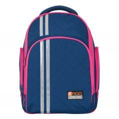 TIGER FAMILY Ортопедический школьный рюкзак для средней школы 19 литров сине-малиновый