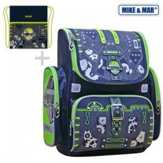 Mike&Mar Ранец школьный Робот с мешком для обуви (синий)