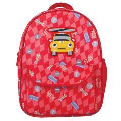 TIGER FAMILY Рюкзак для дошкольников Машинка красный