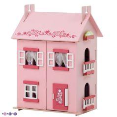 Paremo Домик для кукол Милана деревяный с 15 предметами мебели