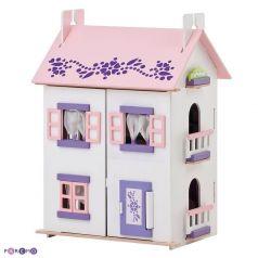 Paremo Кукольный домик Анастасия Деревянный с 15 предметами мебели