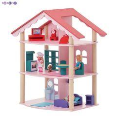 Paremo Кукольный домик Роза Хутор Трехэтажный с 14 предметами мебели