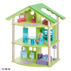 Paremo Кукольный домик Фиолент с мебелью 14 предметов