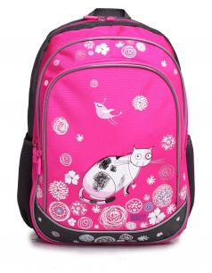 4ALL Рюкзак School Кошка и птичка