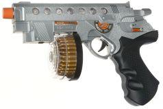 ABtoys Игрушечный пистолет штурмовой электромеханический со светом и звуком
