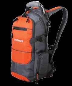Wenger Городской рюкзак Narrow Hiking Pack 22 л. серый/оранжевый