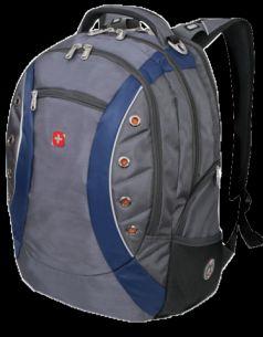 Wenger Городской рюкзак Zoom 35 л. серый/синий