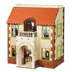 ЯиГрушка Кукольный домик Одним прекрасным утром деревянный с черепичной крышей