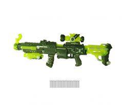ABtoys Игрушечый бластер в наборе с 20 мягкими снарядами на батарейках